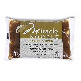 Miracle Noodle Shirataki Pasta - Garlic and Herb Fettuccini - Case of 6 - 7 oz. - 2 Pack