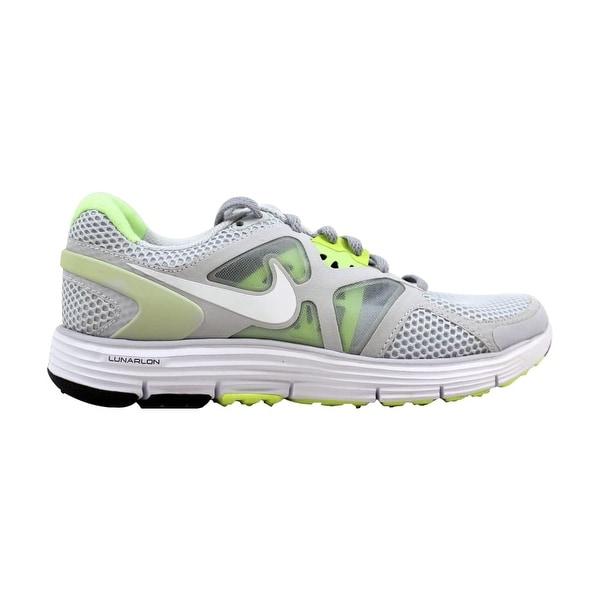 7c1660b75e Nike Lunarglide + 3 Breathe Pure Platinum/White-Wolf Grey-Liquid Lime 510802