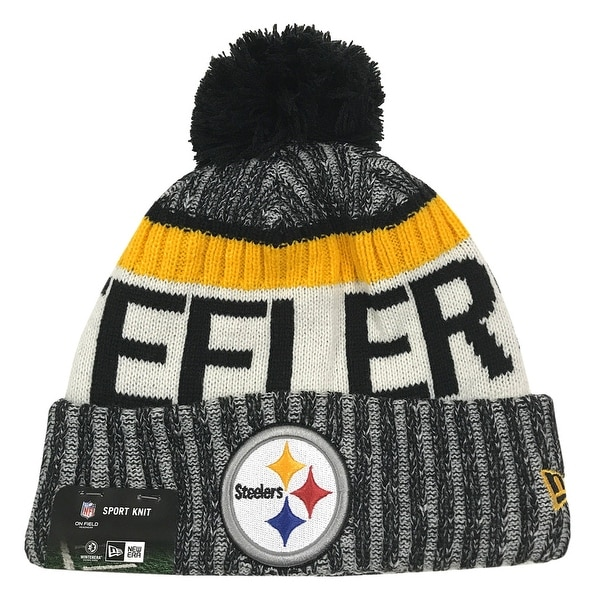 brand new fd159 98813 Shop New Era Pittsburgh Steelers Knit Beanie Cap Hat NFL On Field Sideline  11460384 - Free Shipping On Orders Over  45 - Overstock - 17743770