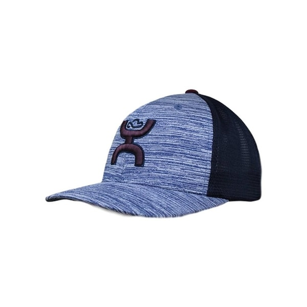 c0b7eed3fc1 Shop HOOey Hat Mens Trucker Wrap Mesh Snapback One Size Navy Maroon 1786T -  Free Shipping On Orders Over  45 - Overstock - 18744808