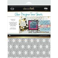 "Deco Foil Clear Toner Sheets 8.5""X11"" 4/Pkg-Groovy"