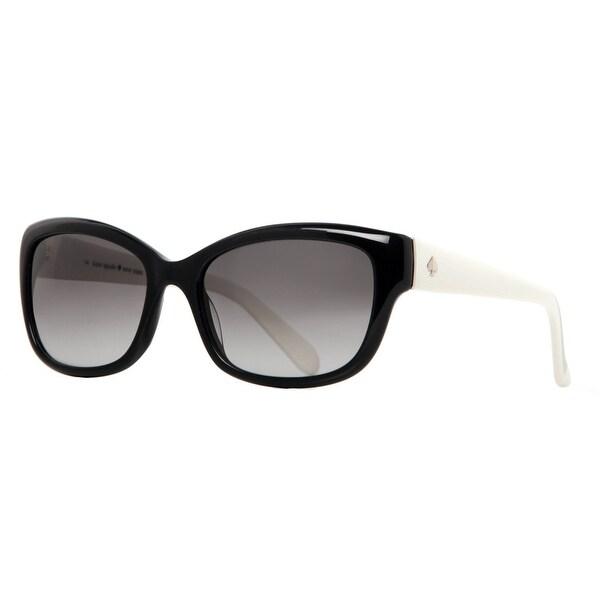 3525dcf5061 ... Women s Sunglasses     Fashion Sunglasses. Kate Spade Johanna 807 Y7  Black Ivory Gray Gradient Women  x27 s Cat