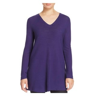 Eileen Fisher Womens Tunic Sweater Textured Long Sleeves