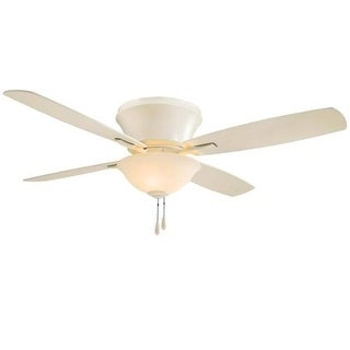 "MinkaAire Mojo II 52"" 4 Blade Indoor Flush Mount Ceiling Fan with Blades and Integrated Light Kit"