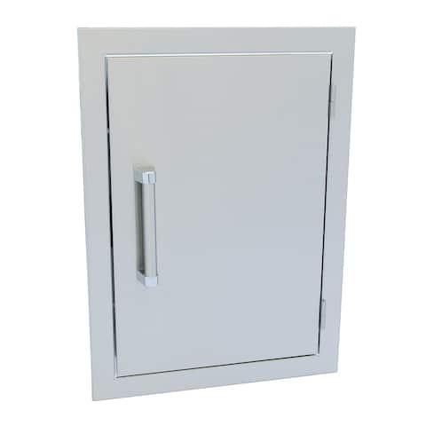 KoKoMo Grills 14x20 Outdoor Kitchen Access Door - Silver