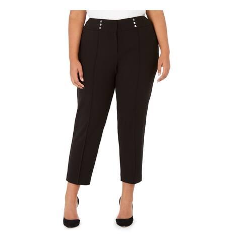 KASPER Womens Black Straight leg Pants Size 20W