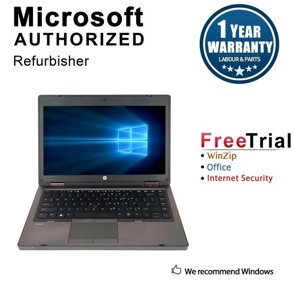 "Refurbished HP ProBook 6460B 14.0"" Intel Core i5-2520M 2.50GHz 4GB DDR3 120GB SSD DVD Windows 10 Pro 64 Bits 1 Year Warranty"