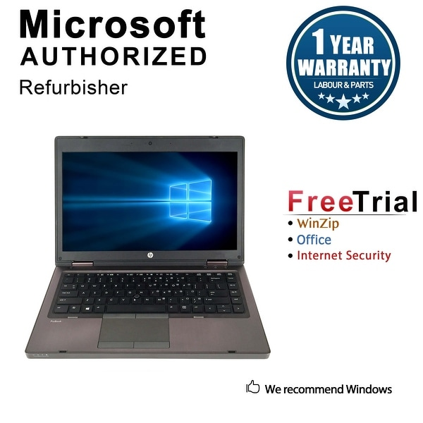 Refurbished HP ProBook 6465B 14.0'' Laptop AMD A4-3310MX 2.1G 4G DDR3 500G DVD Win 10 Pro 1 Year Warranty - Black