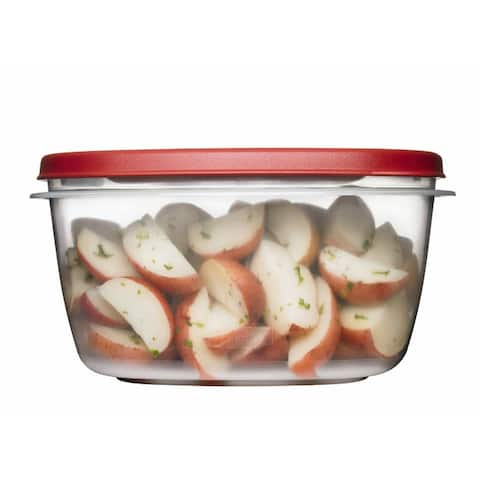 Rubbermaid 1777161 Easy Find Lids Food Storage Container, Racer Red, 14 Cup