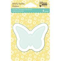 Jillibean Soup Pvc Card Shakers 6/Pkg-Butterfly