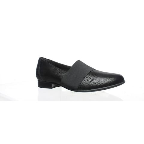 Clarks Womens Un Blush Lo Black Loafers Size 8