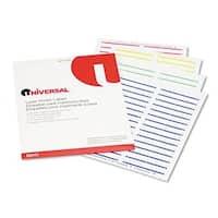 Laser Printer File Folder Labels- 3-1/2 x 2/3- Assorted- 750/Pack