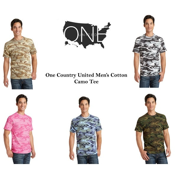 One Country United Mens Core Cotton Camo Tee