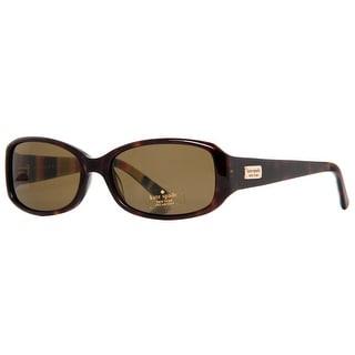 KATE SPADE Rectangular PAXTON/N/S Women's X76P VW Tortoise Brown Sunglasses - 53mm-16mm-130mm