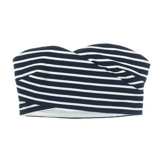 Lucy Paris Womens Strapless Striped Bandeau Top
