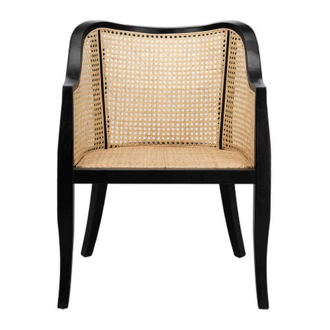 "Safavieh Maika Cane Dining Chair - 23.6"" x 23.8"" x 32.7"""