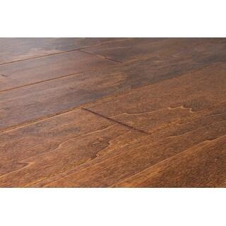 "Kanstar Engineered Hardwood - 17.5 sq. ft. Handscraped Birch Collection Birch - Havana Sunrise / 5"" / 1/2"" / Random Lengths"