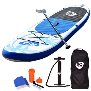 Goplus 11' Inflatable Stand Up Paddle Board SUP w/ Fin Adjustable Paddle Backpack - as pic