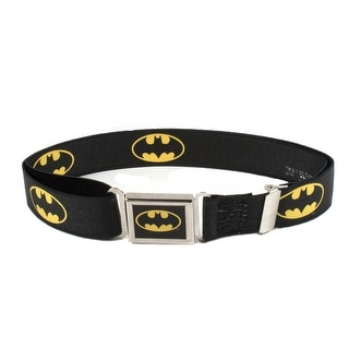 Buckle Down Kids' Magnetic Buckle DC Comics Batman Stretch Belt - Black - One Size