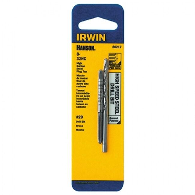 Irwin Tools 80217 Hanson 8-32 NC Tap And #29 Drill Bit