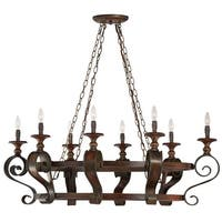 Craftmade 28038 Seville Single Tier 8 Light Candle Style Chandelier - 46 Inches Wide - spanish bronze