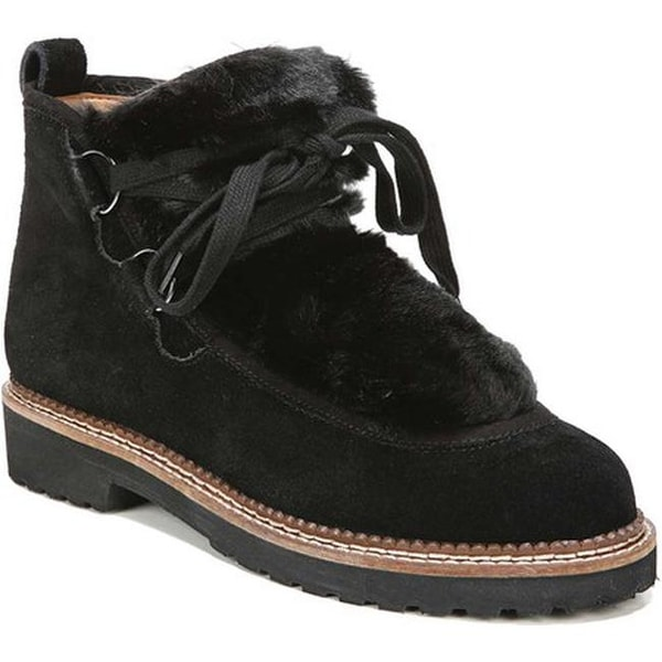 9bb5c987b5ed Shop Franco Sarto Women s Highland Ankle Bootie Black Velour Suede ...