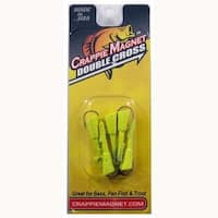 Leland Crappie Magnet Replacement Heads 5ct 1/8oz Chartreuse
