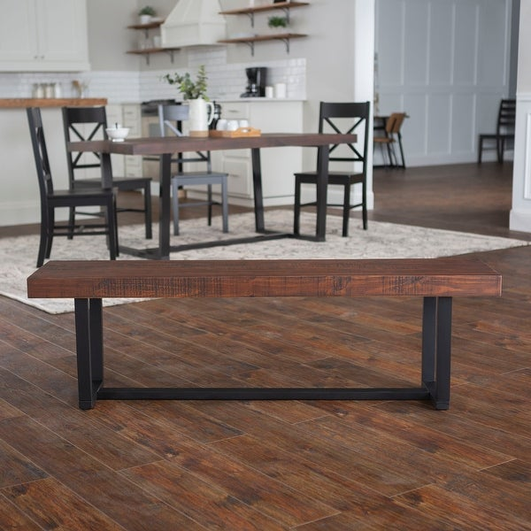 Carbon Loft Barnett 60-inch Solid Wood Dining Bench. Opens flyout.