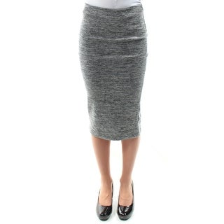 Womens Gray Speckle Midi Pencil Skirt Size 2XS