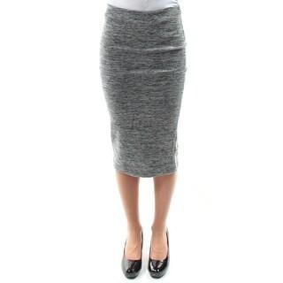 BCX Womens New 1078 Gray Speckle Midi Pencil Casual Skirt 2XS B+B