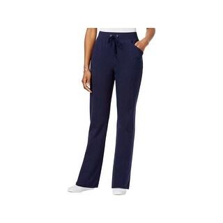 Karen Scott Womens Petites Lounge Pants Drawstring Pull On (2 options available)
