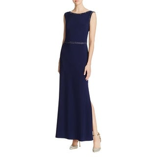Laundry by Shelli Segal Womens Evening Dress Beaded Solid