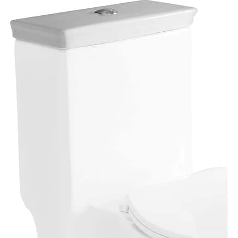 Eago R-377LID Replacement Tank Lid and Flushing Mechanism - White