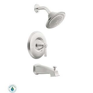 Moen TS2213EP Posi-Temp Pressure Balanced Tub and Shower Trim with 2 GPM Shower Head and Tub Spout from the Rothbury Collection