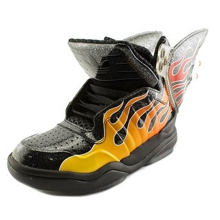 Adidas Jeremy Scott Shark Flame Round Toe Synthetic Sneakers