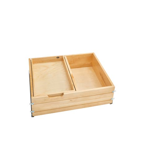 "28.5 in Frameless Tiered Deep Drawer - 28.5""W x 22.19""D x 8""H"