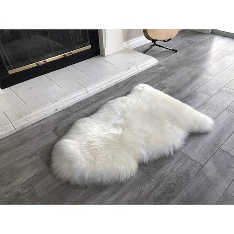 Dynasty Natural Single Pelt Luxury Long Wool Sheepskin Shag Rug