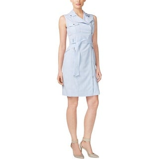 Calvin Klein Womens Petites Wear to Work Dress Heathered A-Line (2 options available)