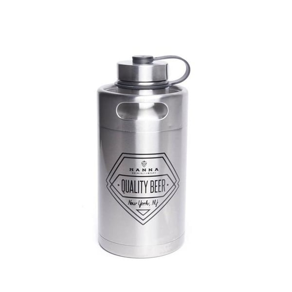 5f8c6bd964 Shop 64 oz Silver Stainless Steel - Quality Beer Keg Growler Water - Free  Shipping Today - Overstock - 25257798