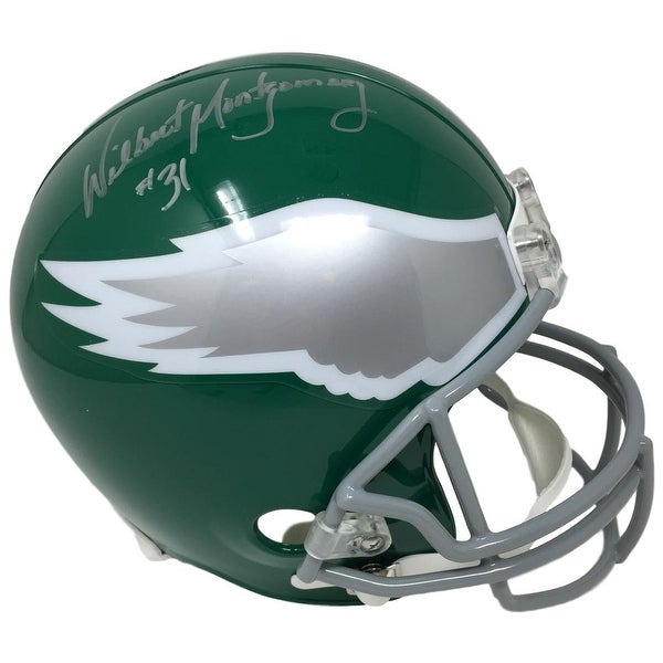 ef3e1e03d6b Shop Wilbert Montgomery Signed Philadelphia Eagles Green Throwback Replica  Helmet JSA - Free Shipping Today - Overstock - 22364322
