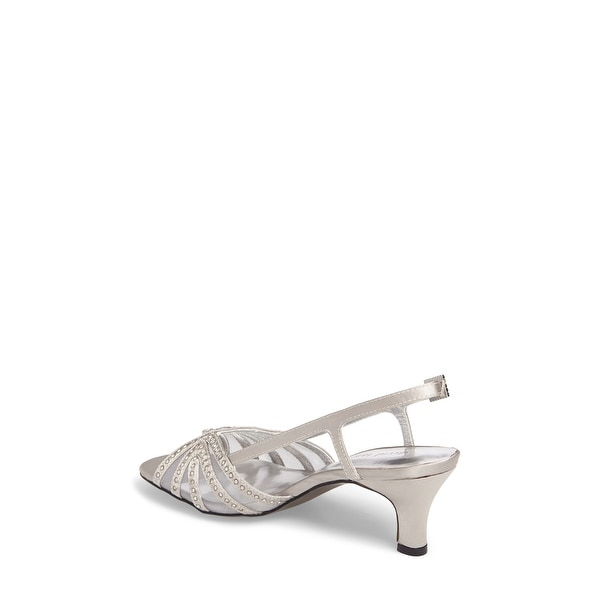 David Tate Womens sizzle Fabric Open Toe Special Occasion Slingback Sandals - 10