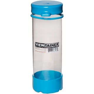 "Viewtainer Tethered Cap Storage Container 2.75""X8""-Sky Blue"