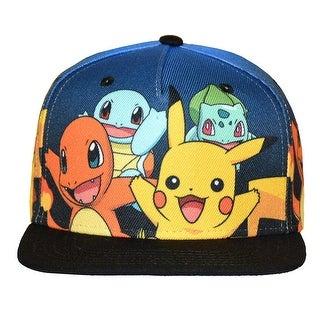 Pokemon Gotta Catch'em All Youth Snapback Hat - multi