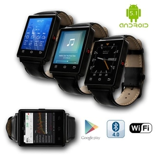 Indigi® GSM Unlocked 3G SmartWatch & Phone + Android 5.1 + Bluetooth 4.0 + WiFi + GPS + Heart Rate Monitor + Temperature