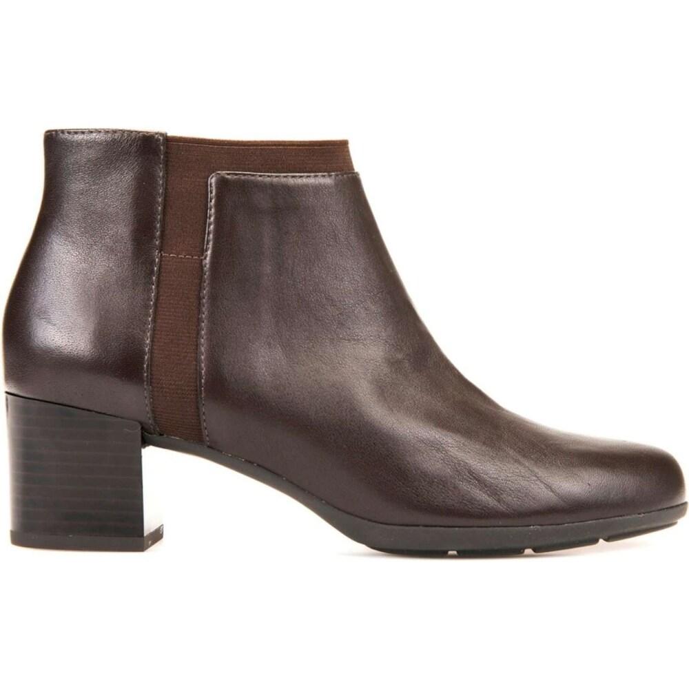 Normal Venta anticipada Leo un libro  Geox Womens Annya Leather Closed Toe Ankle Fashion Boots - 5 - Overstock -  28951382