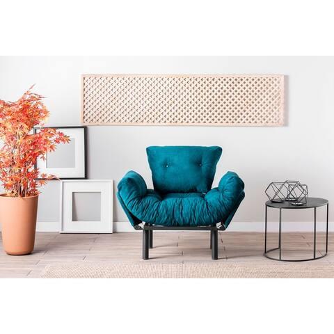 Nasim Metal Frame Tufted Cushions Sleeper Chair