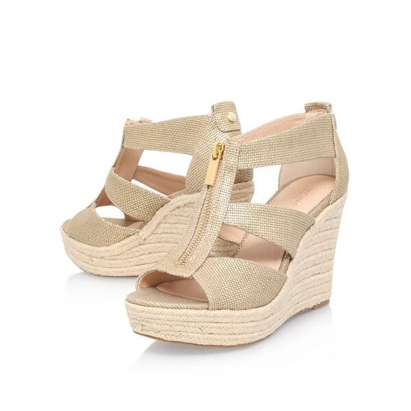 61a204e1b0bc MICHAEL Michael Kors Womens damita Canvas Open Toe Casual Platform Sandals