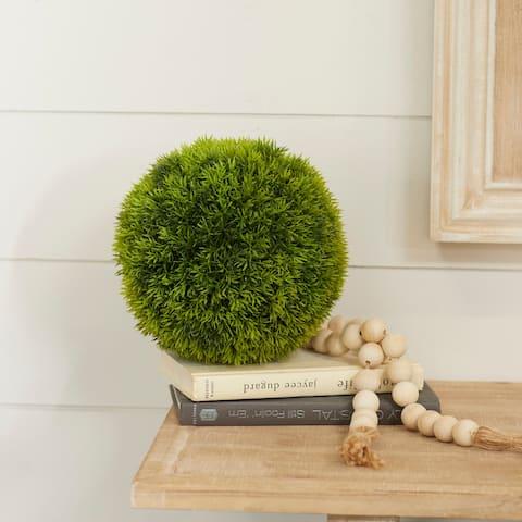 Green Plastic Contemporary Artificial Foliage Ball 9 x 9 x 9 - 9 x 9 x 9Round