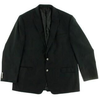 MICHAEL Michael Kors Mens Wool Lined Two-Button Blazer - 46R