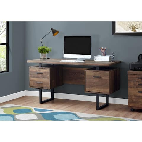 Offex Contemporary 60-inch Reclaimed Wood Computer Desk